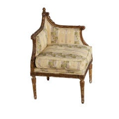 18thC French gilt wood corner chair