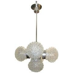 Italian Modernist Bubble Globe Sputnik Chandelier, 1960