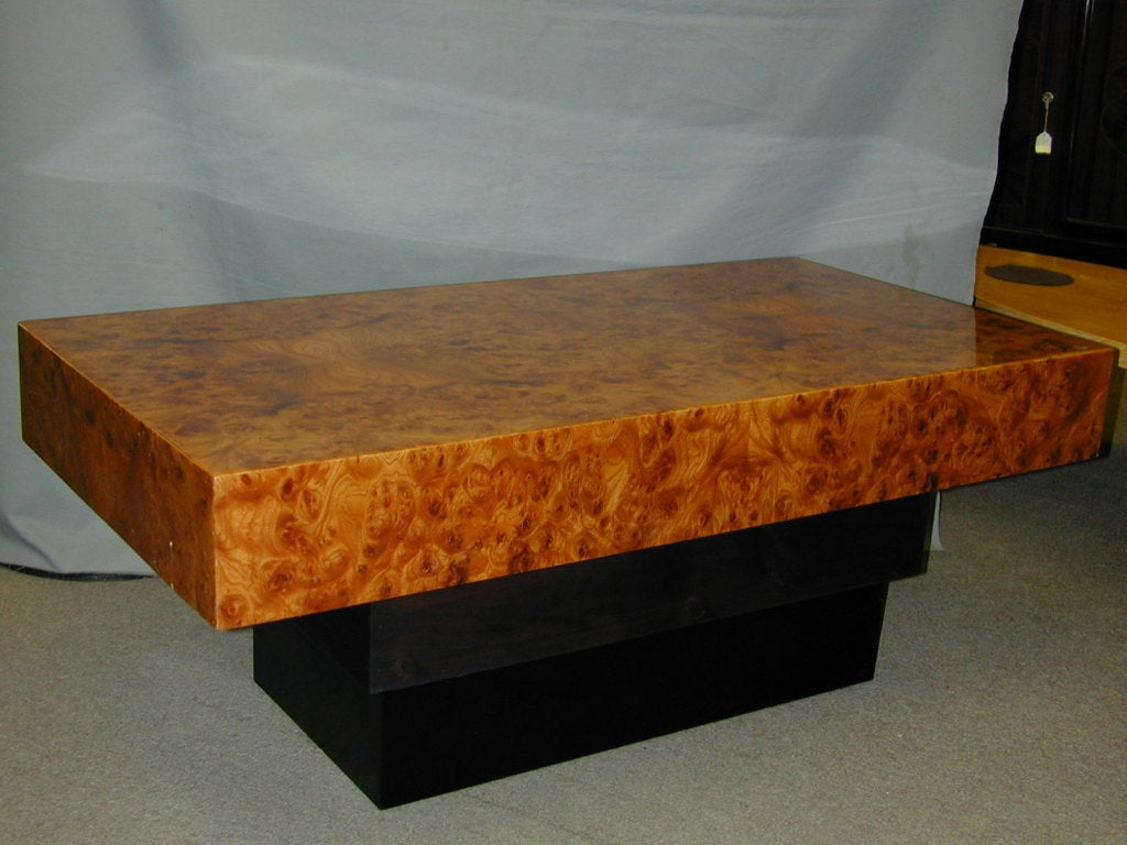 French Modernist burl wood coffee table 3. French Modernist burl wood coffee table at 1stdibs