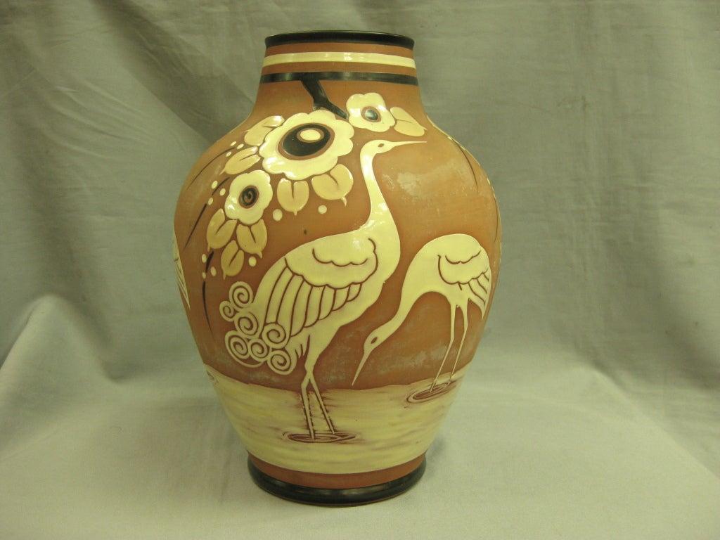 Belgian Boch Freres Keramis faience art pottery vase