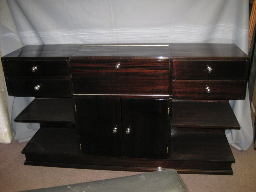 french modernist cubist design tv cabinet vanity bar at 1stdibs. Black Bedroom Furniture Sets. Home Design Ideas