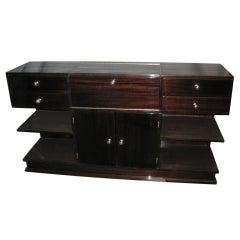 French Modernist cubist design TV cabinet /vanity /bar