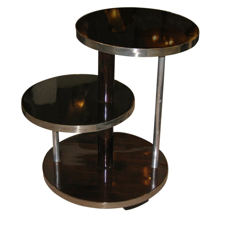 french art deco multi leveled occasional table with