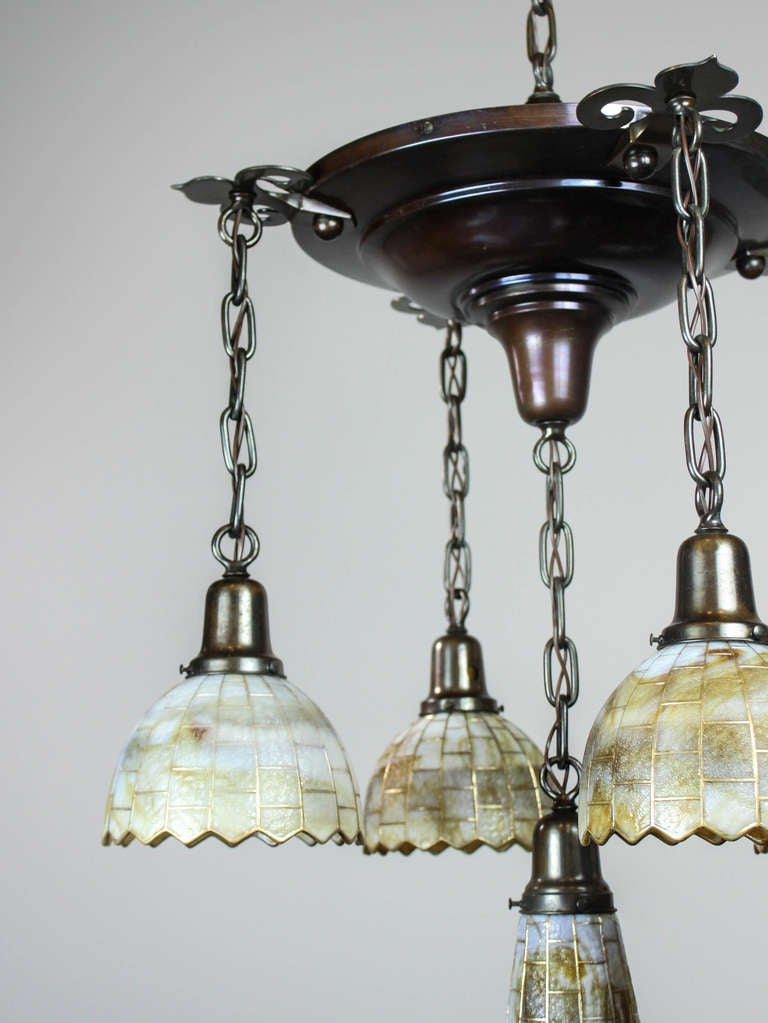 handel shower light fixture 5 light at 1stdibs