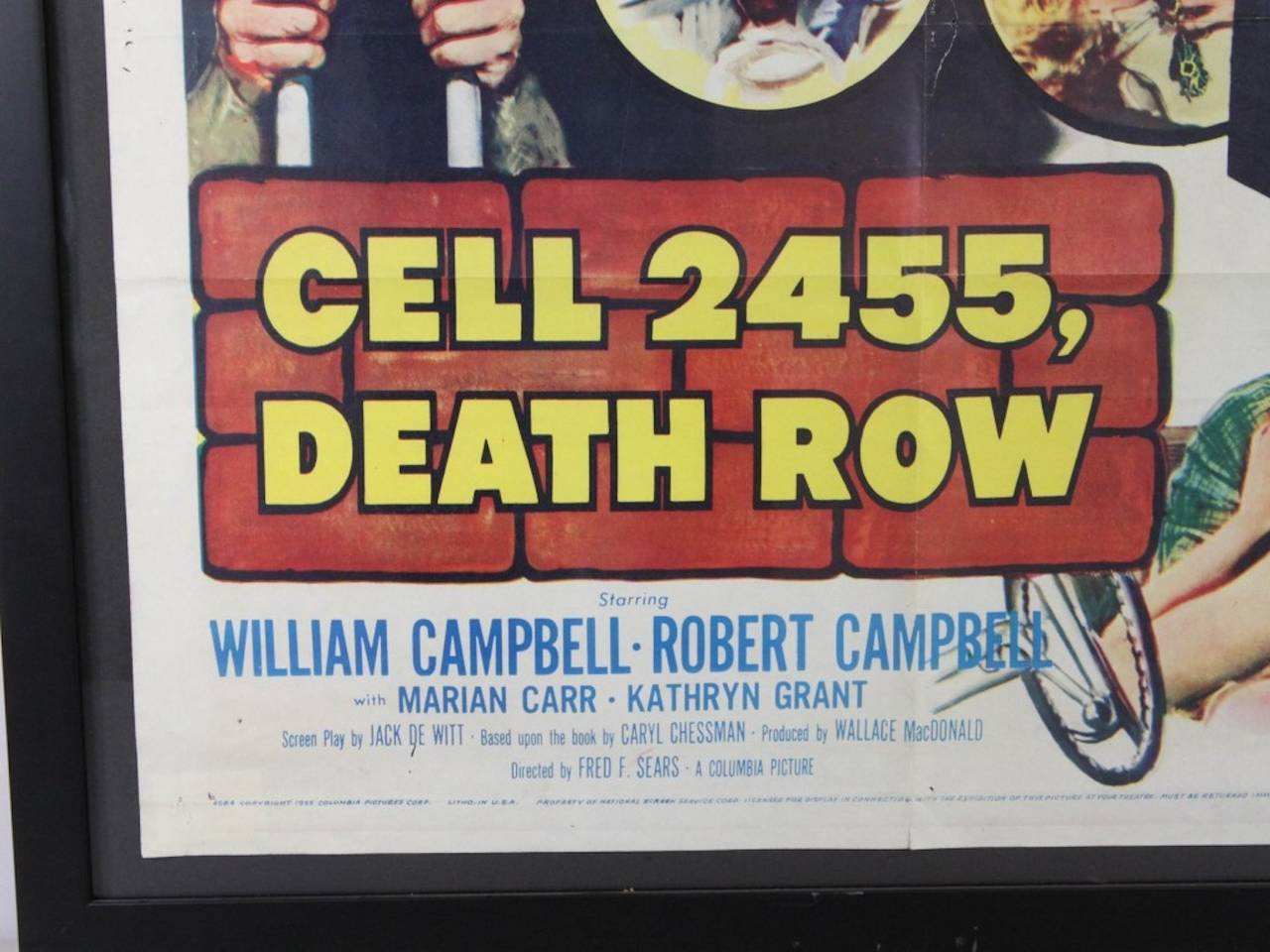 Cell 2455, Death Row Vintage Movie Poster For Sale at 1stdibs