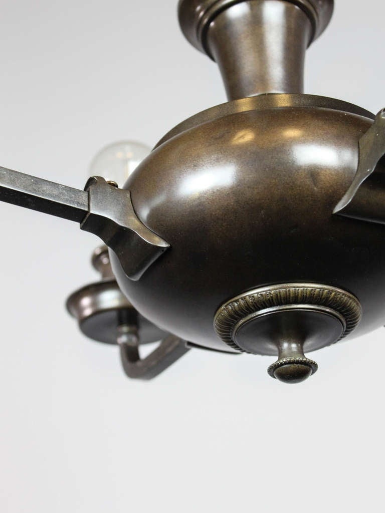 artistic arts and crafts bare bulb pan light fixture 4. Black Bedroom Furniture Sets. Home Design Ideas