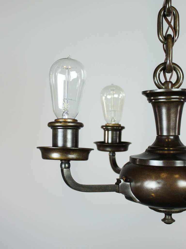 artistic arts and crafts bare bulb pan light fixture four. Black Bedroom Furniture Sets. Home Design Ideas
