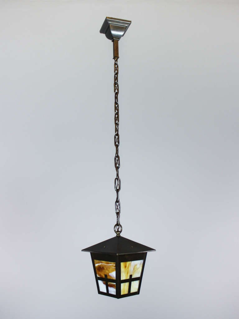 arts and crafts mission lantern pendant fixture for sale. Black Bedroom Furniture Sets. Home Design Ideas