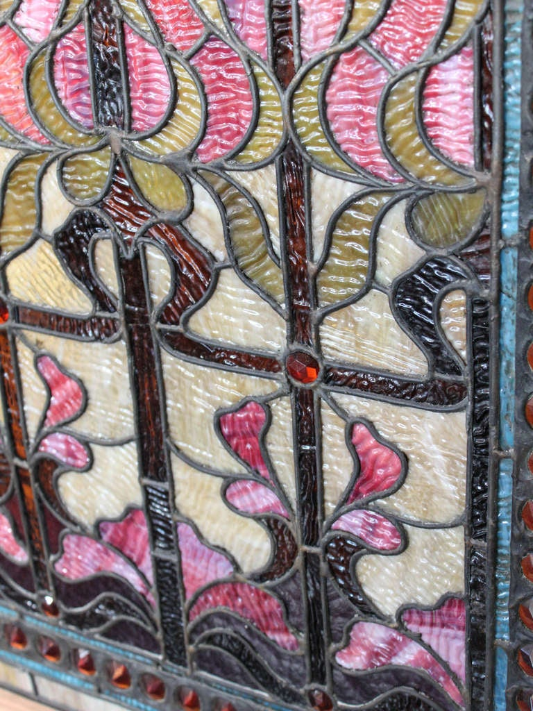 large stained glass window panel at 1stdibs