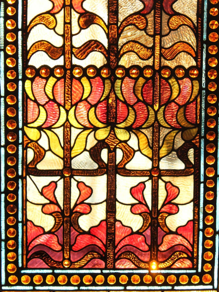 Large Stained Glass Window Panel For Sale At 1stdibs