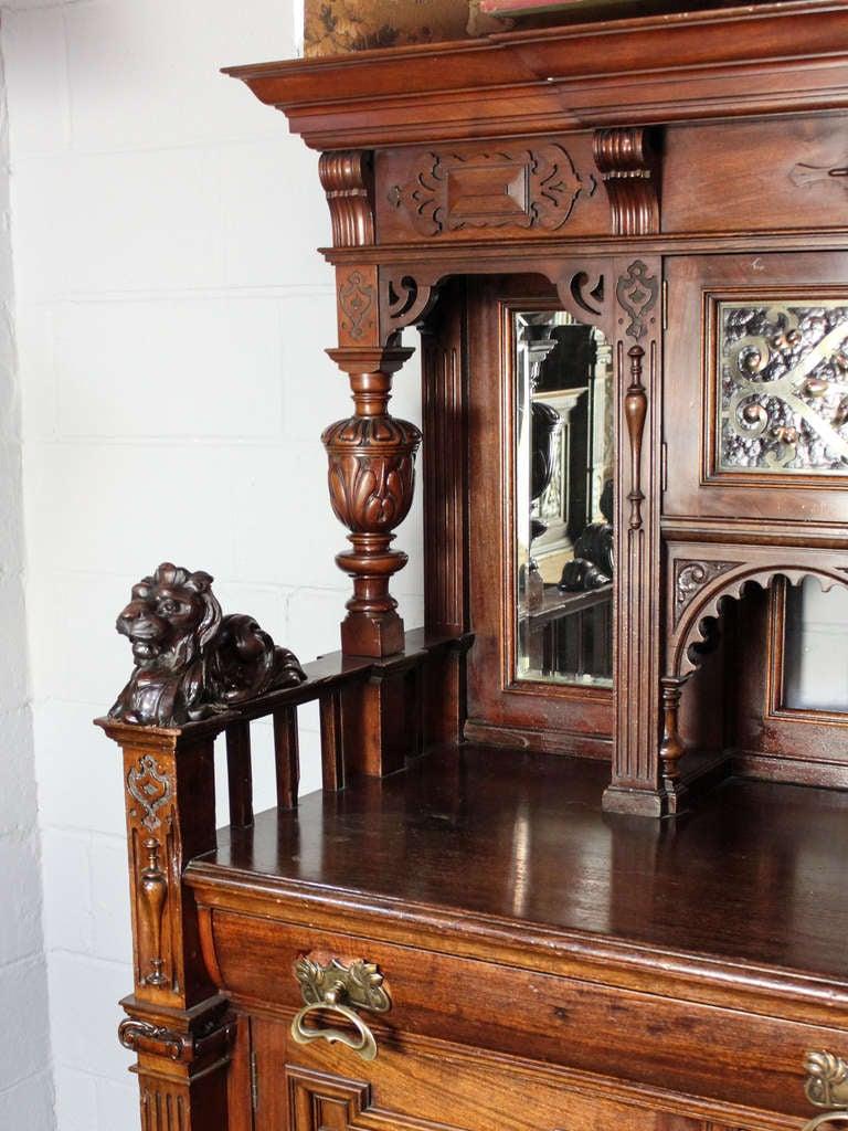 Carved Lion Sideboard For Sale At 1stdibs