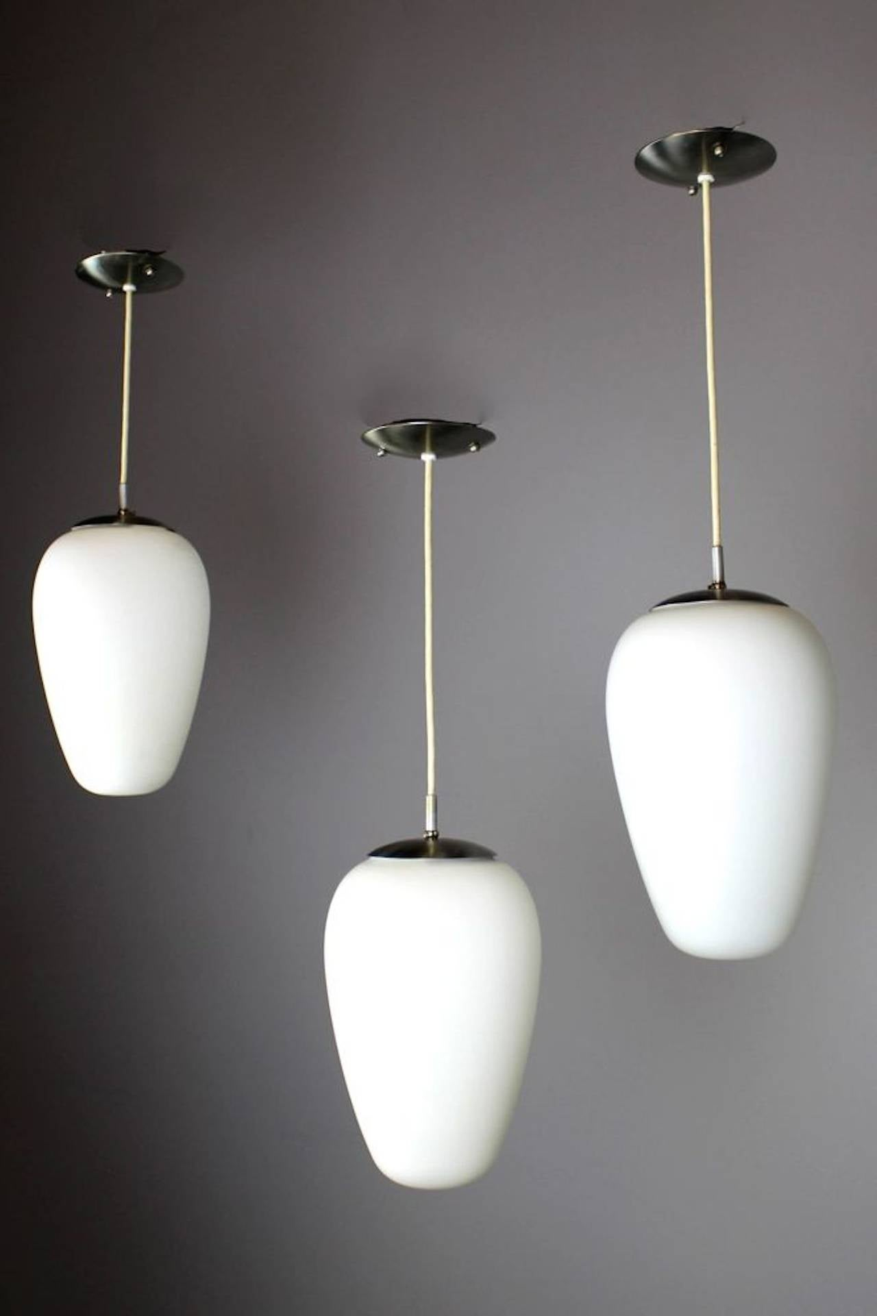 Mid century modern pendant light at 1stdibs for Mid century modern globe pendant light