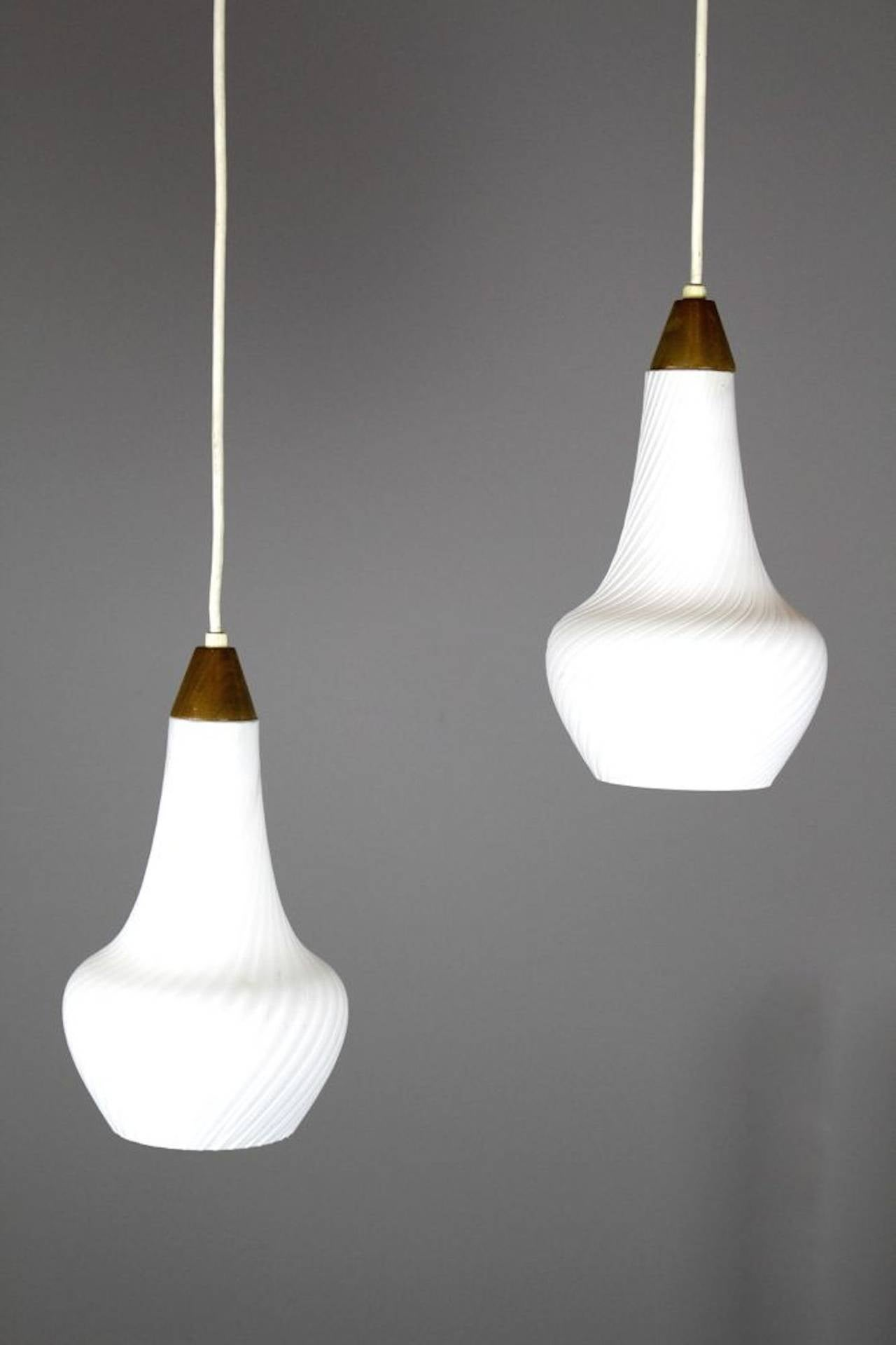 Mid Century Pendant Lights Two Available At 1stdibs