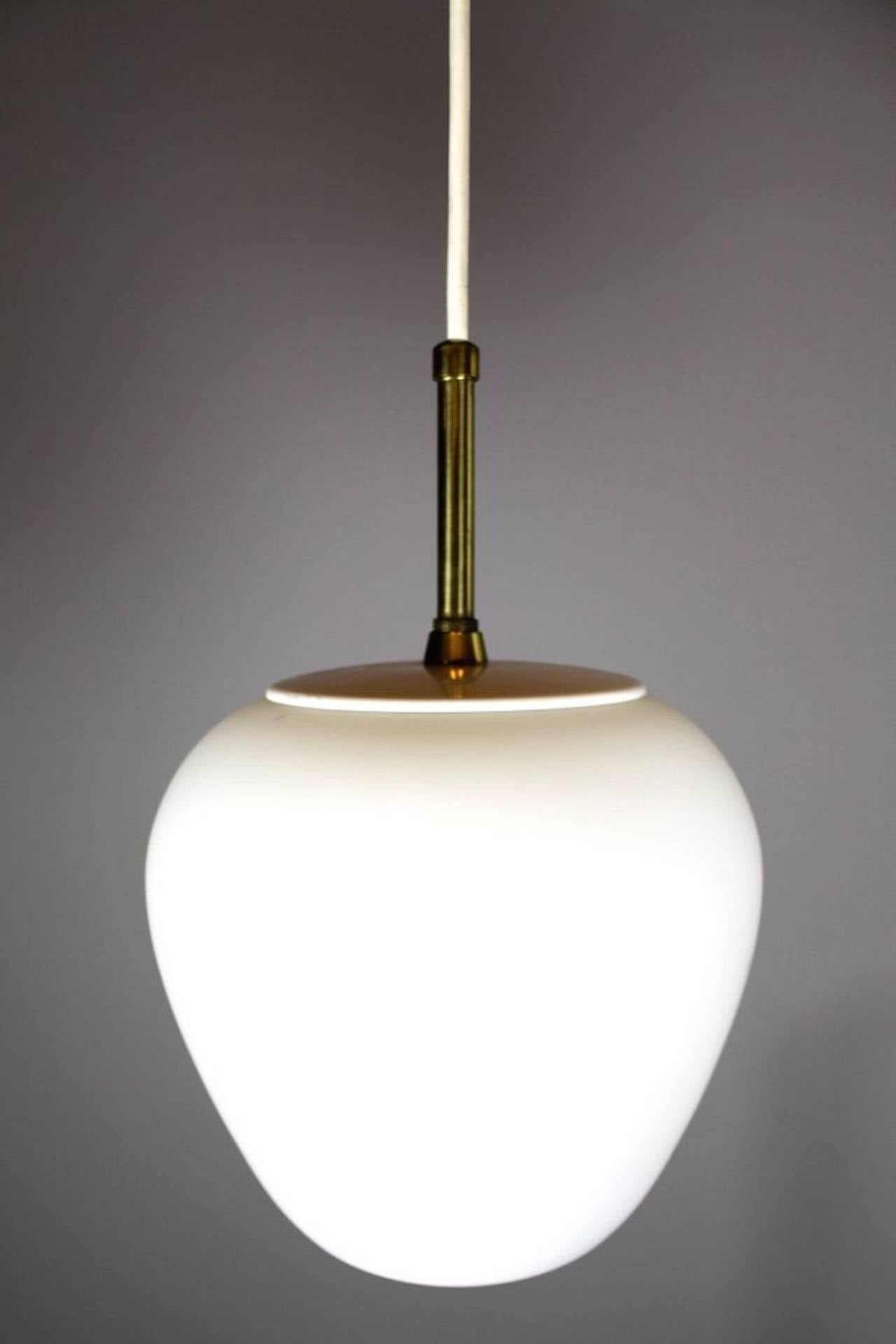 Mid century modern italian style pendant lights at 1stdibs for Mid century modern light fixtures