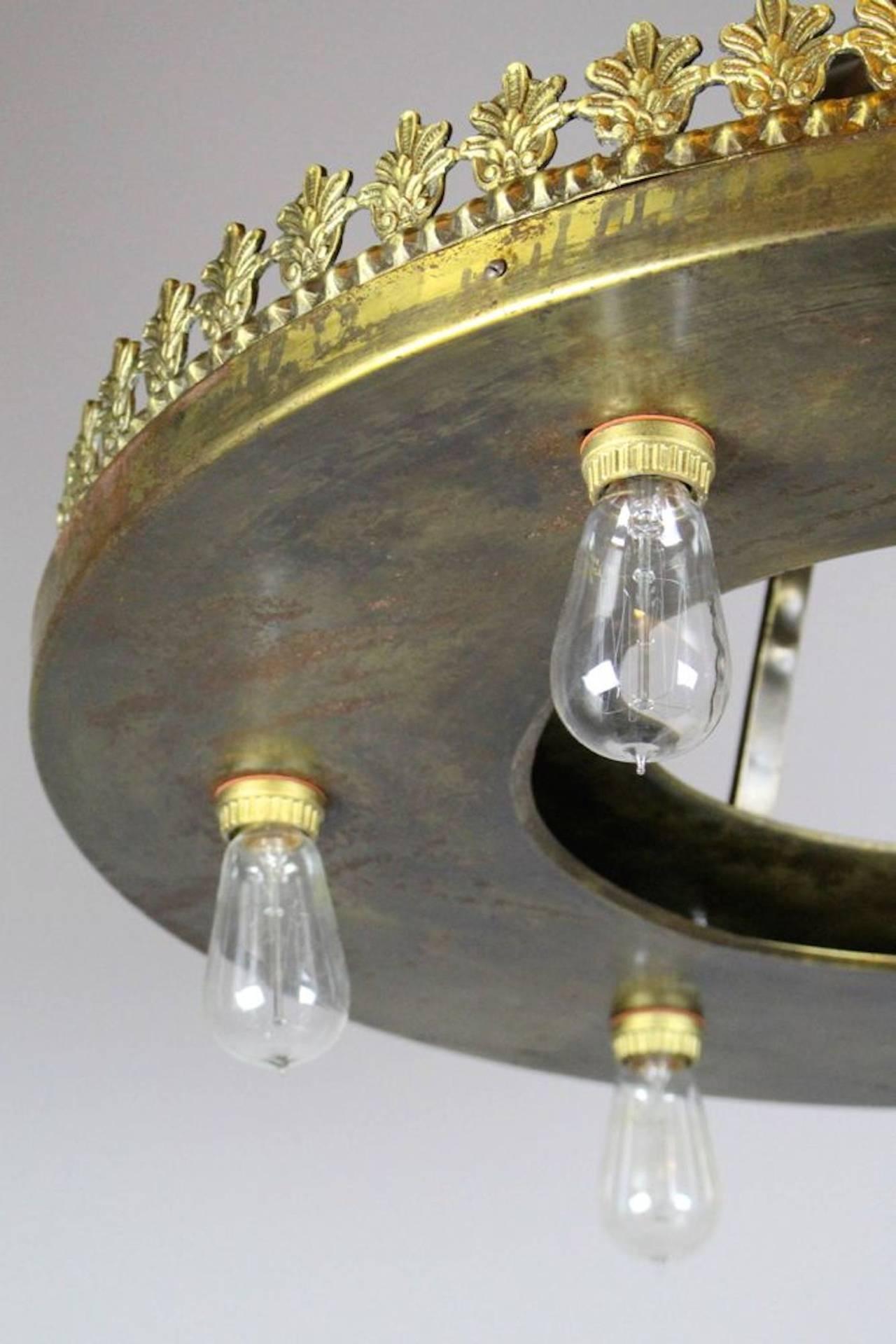 large industrial bare bulb seven light fixture for sale at. Black Bedroom Furniture Sets. Home Design Ideas