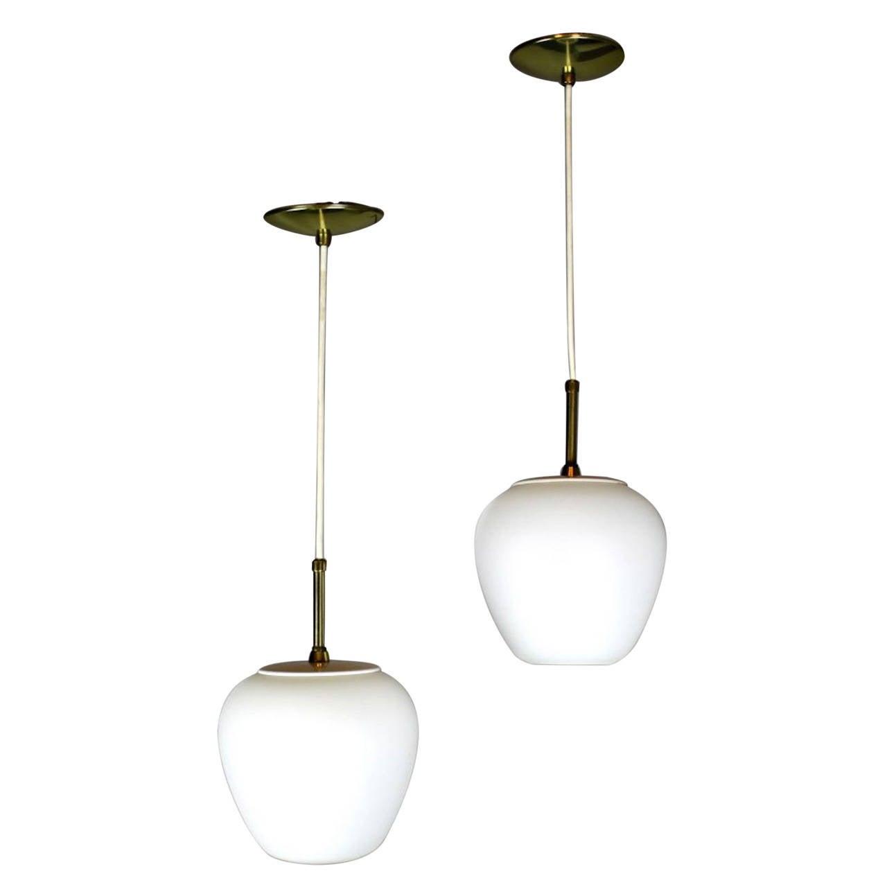 Mid century modern italian style pendant lights at 1stdibs for Mid century modern hanging lamp