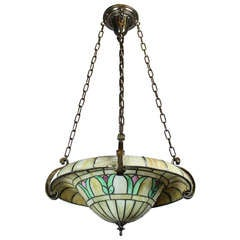 Duffner & Kimberly Mosaic Slag-Glass Bowl Fixture