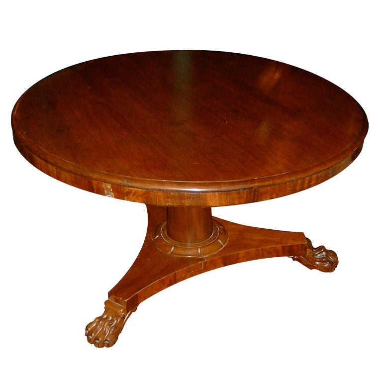 Mahogany Round Table with Claw Feet at 1stdibs : XXX901513080941971 from www.1stdibs.com size 768 x 768 jpeg 48kB
