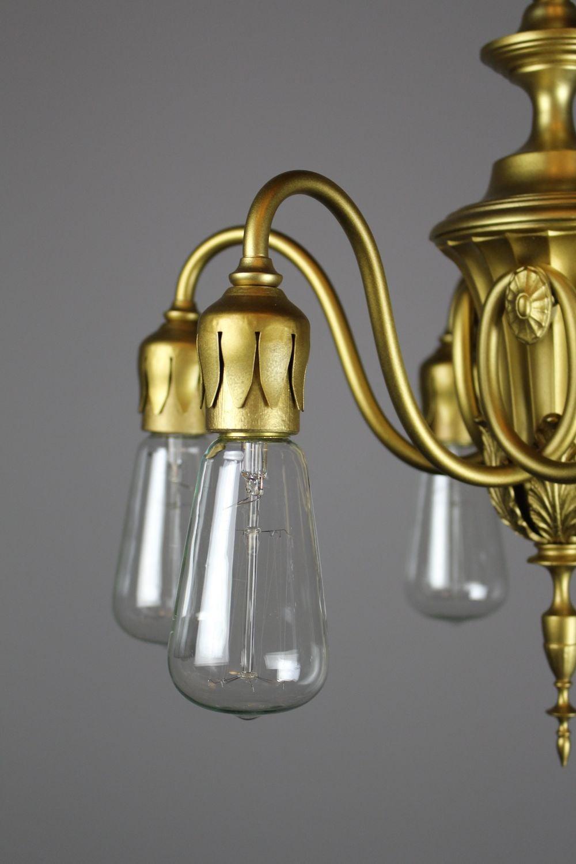 adam 39 s style bare bulb six light fixture by r williamson. Black Bedroom Furniture Sets. Home Design Ideas