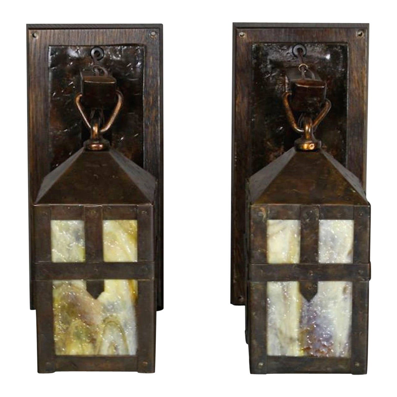 Pair Of Sears Roebuck And Co Chicago And Philadelphia Monk Lantern Sconces At 1stdibs