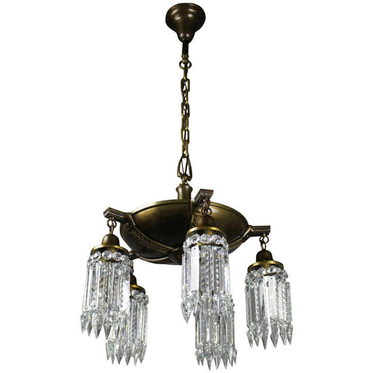 Colonial Revival Crystal Chandelier At 1stdibs