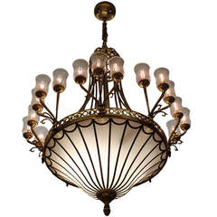 Monumental Neoclassical Chandeliers