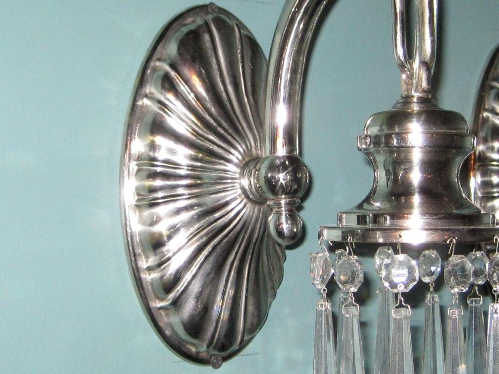 Skandium Wall Lights : Silver Plated Sheffield Sconces at 1stdibs