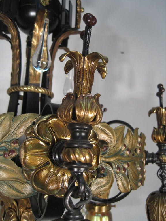 6 arm spanish colonial fixture at 1stdibs. Black Bedroom Furniture Sets. Home Design Ideas
