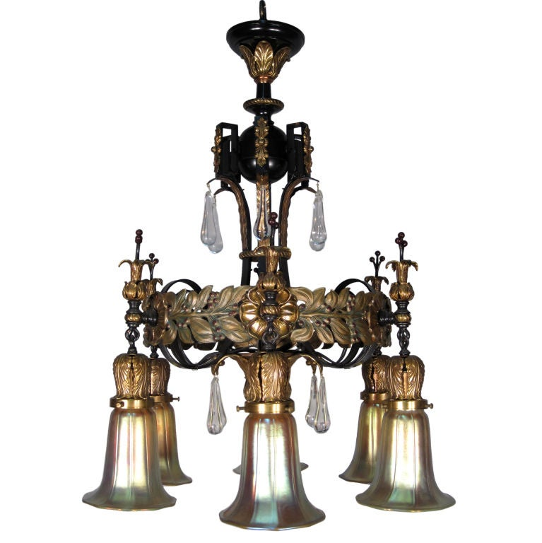 6 Arm Spanish Colonial Fixture At 1stdibs