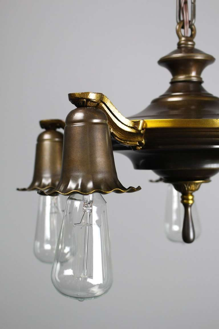 bare bulb edwardian daffodil fixture for sale at 1stdibs. Black Bedroom Furniture Sets. Home Design Ideas