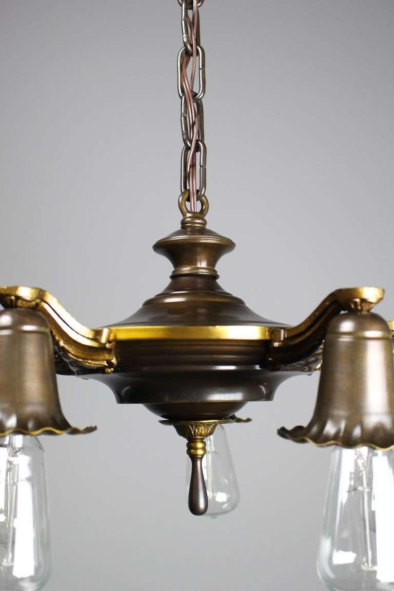 bare bulb edwardian daffodil fixture for sale at 1stdibs. Black Bedroom Furniture Sets. Home Design Ideas