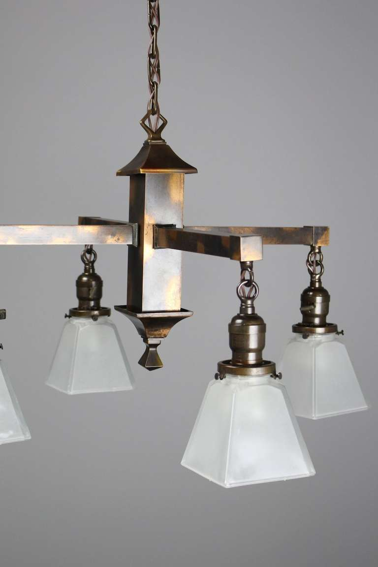Mission Style Fixture With Quot Japanned Quot Finish For Sale At