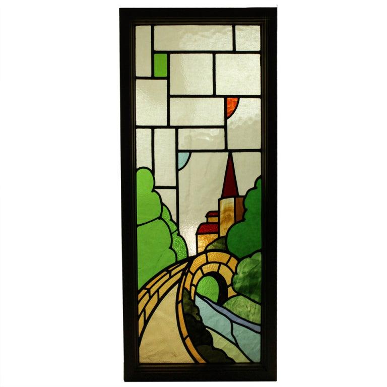 Castle Scene Stained Glass Window 1