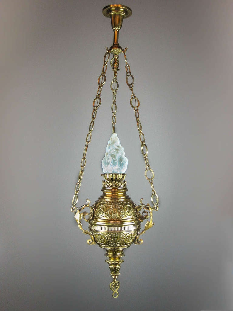 Brass Sanctuary Pendant Fixture For Sale At 1stdibs