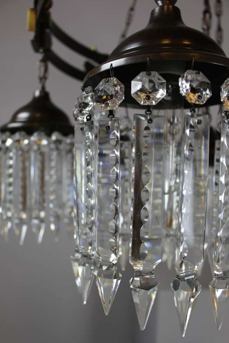 arts and crafts gothic style crystal chandelier seven