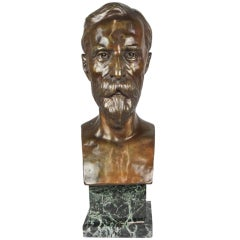 Bronze Bust Marked Lionel G. Fosbery