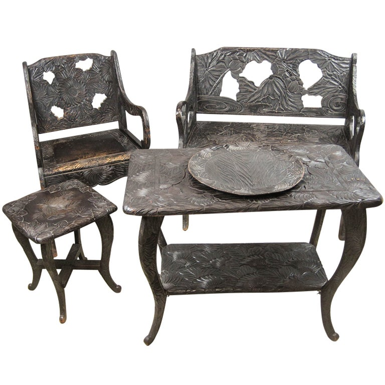 Aesthetic Movement Conservatory Set At 1stdibs