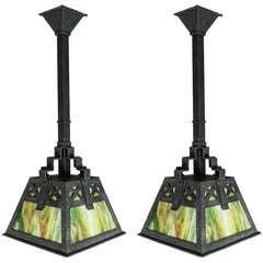"""Bradley & Hubbard"" Mission Lanterns"
