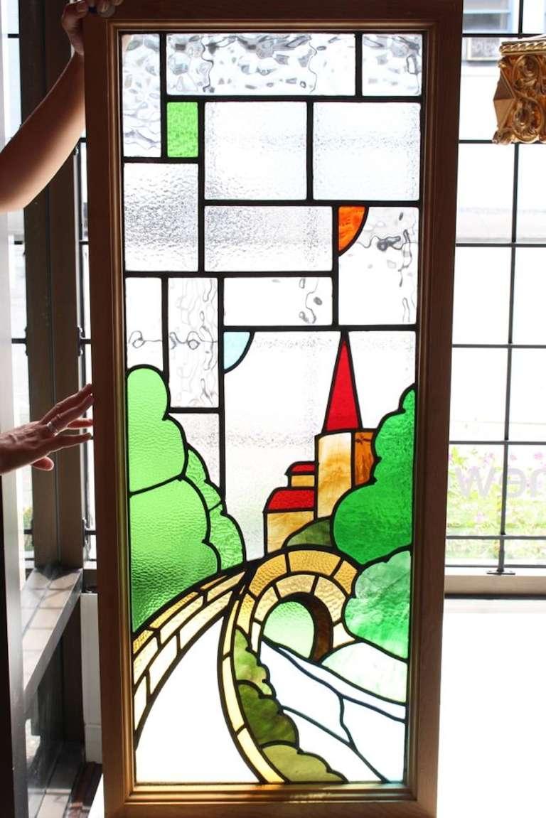 Castle Scene Stained Glass Window 2