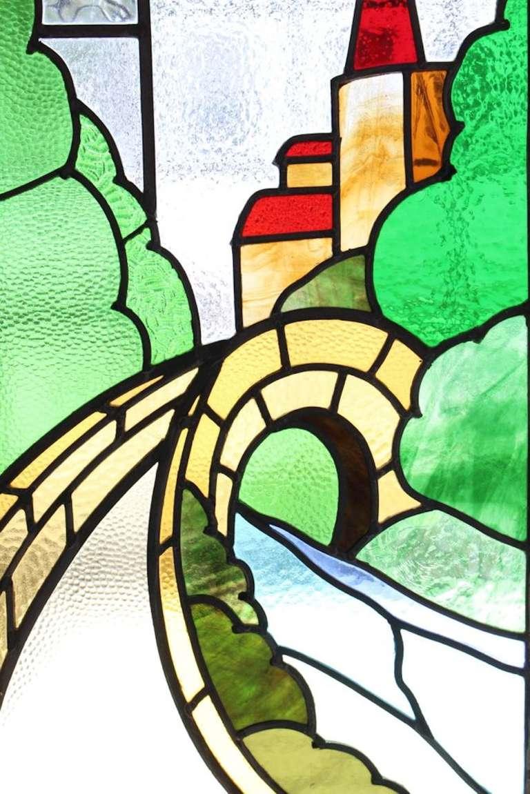 Castle Scene Stained Glass Window 3