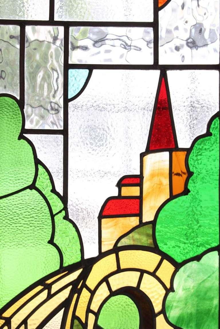 Castle Scene Stained Glass Window 4