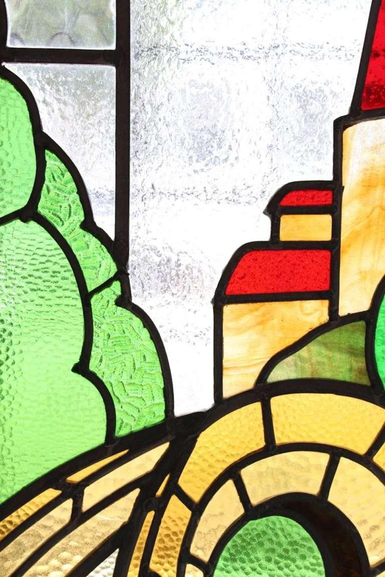 Castle Scene Stained Glass Window 6