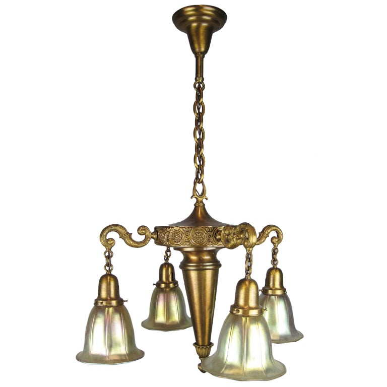 """Vintage Revivals Light Fixture: """"MILLER"""" Colonial Revival Light Fixture (4-Light) At 1stdibs"""