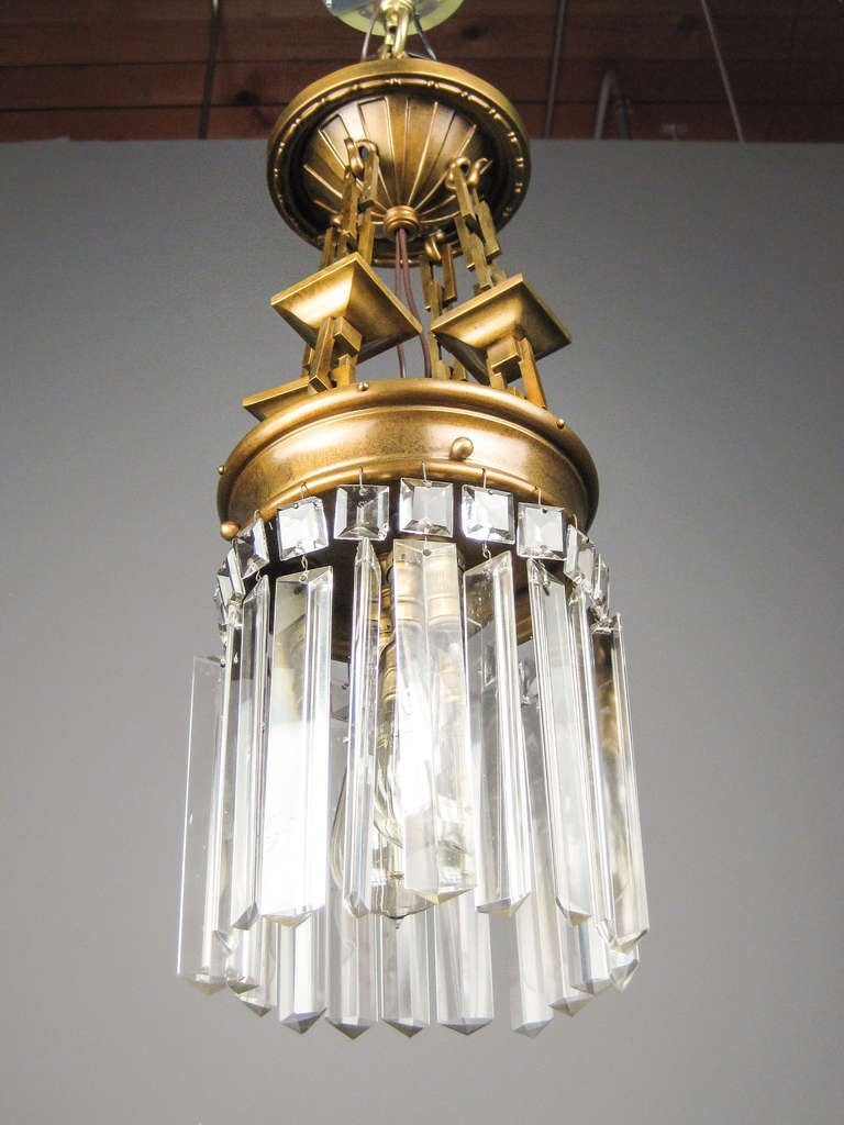 Arts and crafts pendant light fixture 2 light at 1stdibs for Arts and crafts light