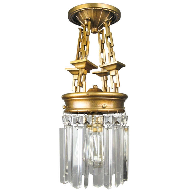 Arts And Crafts Pendant Light Fixture 2 Light At 1stdibs