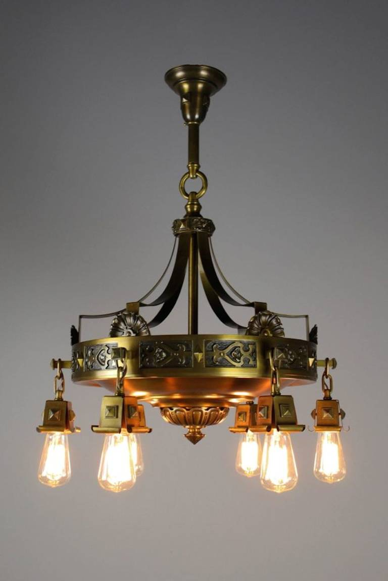 Superior Quality Tudor Revival Arts And Crafts Fixture At