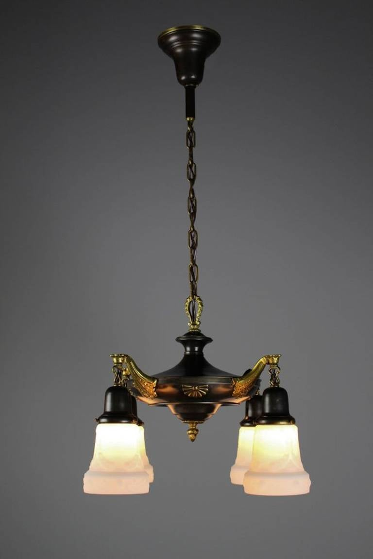 Two Tone Colonial Revival Light Fixture For Sale At 1stdibs