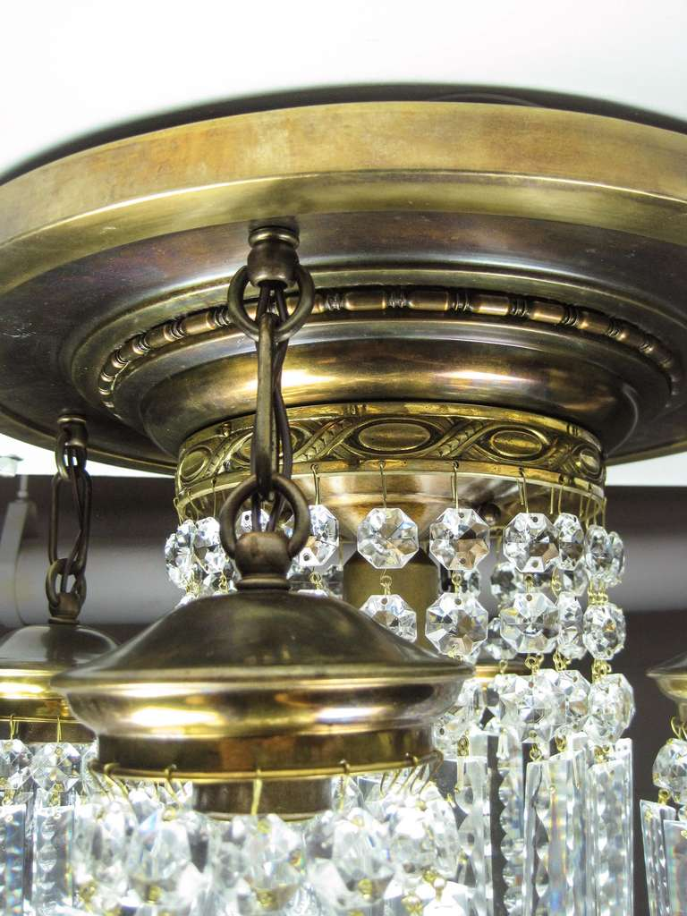 Crystal Flush Mount Light Fixture 5 Light At 1stdibs