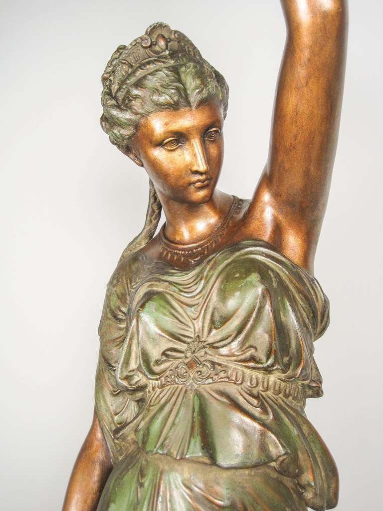 Quot Mitchell Vance And Co Quot Goddess Newel Post Lamp For Sale