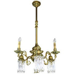 Converted Gas-Electric Decorative Sheffield Style Chandelier